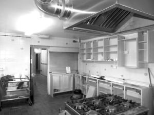 Work in progress of kitchen at WWMCC