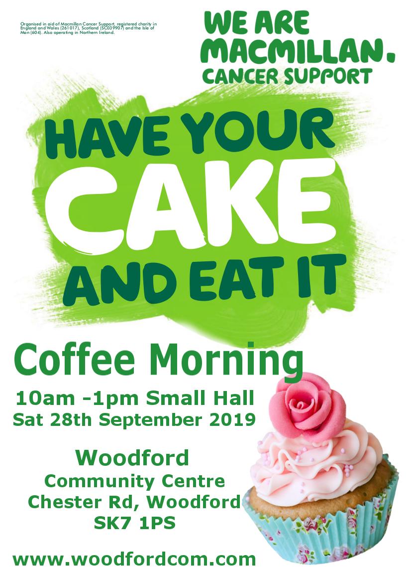 Macmillan Poster 1 2019 Woodford Community Centre